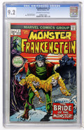 Bronze Age (1970-1979):Horror, Frankenstein #2 (Marvel, 1973) CGC NM- 9.2 Off-white to whitepages....