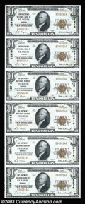 National Bank Notes:Missouri, Saint Louis, MO - $10 1929 Ty. 1 The Boatmen's NB Ch. #...