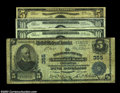 National Bank Notes:Pennsylvania, Chester, PA - $5 1902 Plain Back Fr. 598 $5 1929 Ty. 2, $... (4notes)