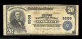 National Bank Notes:Pennsylvania, Ralston, PA - $20 1902 Plain Back Fr. 652 The First NB ...