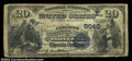 National Bank Notes:Pennsylvania, Tionesta, PA - $20 1882 Value Back Fr. 580 The Citizens ...