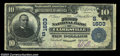 National Bank Notes:Tennessee, Clarksville, TN - $10 1902 Plain Back Fr. 625 First NB ...