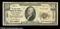 National Bank Notes:West Virginia, Elm Grove, WV - $10 1929 Ty. 1 The First NB & TC Ch. # ...