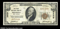 National Bank Notes:West Virginia, Piedmont, WV - $10 1929 Ty. 1 The First NB of Piedmont ...