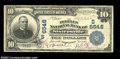 National Bank Notes:West Virginia, Sistersville, WV - $10 1902 Plain Back Fr. 624 The ...