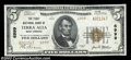 National Bank Notes:West Virginia, Terra Alta, WV - $5 1929 Ty. 2 The First NB Ch. # 6999