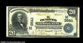 National Bank Notes:Wisconsin, Oconto, WI - $20 1902 Date Back Fr. 644 The Oconto NB ...