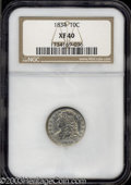 Bust Dimes: , 1834 Small 4 XF40 NGC. ...