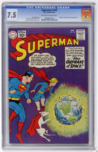 Superman #144 (DC, 1961) CGC VF- 7.5 Off-white to white pages