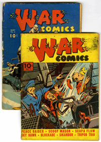 War Comics #1 and 2 Group (Dell, 1940-41) Condition: Average GD.... (Total: 2)