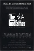 "Movie Posters:Crime, The Godfather (Paramount, R-1997). One Sheet (27"" X 41"") Special25th Anniversary Presentation. Academy Award winner. Starri..."