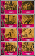 "Movie Posters:Adventure, The Crimson Pirate (Warner Brothers, R-1971). Lobby Card Set of 8(11"" X 14""). Adventure. Starring Burt Lancaster, Eva Barto...(Total: 8 Items)"