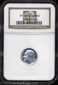 Proof Roosevelt Dimes: , 1955 10C PR68 W Cameo NGC. Pleasing cameo contrast and ...