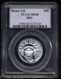 Modern Bullion Coins: , 2001 P$50 Half-Ounce Platinum Eagle MS68 PCGS. Fully ...