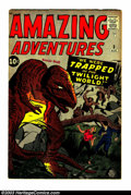 Silver Age (1956-1969):Horror, Amazing Adventures #3 (Marvel, 1961) Condition: VG. Jack Kirby andSteve Ditko artwork. Overstreet VG 4.0 value = $84. Fro...