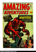 Silver Age (1956-1969):Horror, Amazing Adventures #5 (Marvel, 1961) Condition: VG-. Jack Kirby andSteve Ditko artwork. Dr. Droom story by Jack Kirby. Stev...