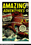 Silver Age (1956-1969):Horror, Amazing Adventures #6 (Marvel, 1961) Condition: VG 4.0. Lastappearance of Dr. Droom by Jack Kirby. Steve Ditko artwork. Ove...