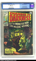 Bronze Age (1970-1979):Horror, Chamber of Darkness #4 (Marvel, 1970) CGC NM- 9.2 Cream tooff-white pages. Barry Windsor-Smith and Jack Kirby art.Conan-es...