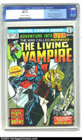 Bronze Age (1970-1979):Horror, Fear #20 (Marvel, 1974) CGC NM 9.4 Off-white to white pages. PaulGulacy art. Morbius the living vampire begins; Spiderman a...