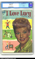 Golden Age (1938-1955):Miscellaneous, Four Color #535 I Love Lucy (Dell, 1954) CGC FN/VF 7.0 Cream to off-white pages. Photo cover. According to Overstreet, this ...