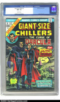 Bronze Age (1970-1979):Horror, Giant-Size Chillers #1 (Marvel, 1974) CGC NM+ 9.6 Off-white pages.Gene Colan art. Origin and first appearance of Lilith, Dr...