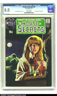 House of Secrets #92 (DC, 1971) CGC VF 8.0 Off-white pages. First appearance of Swamp Thing by Berni Wrightson. Overstre...