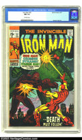 Bronze Age (1970-1979):Superhero, Iron Man #22 (Marvel, 1970) CGC NM 9.4 Off-white pages. George Tuska art. Death of Janice Cord. Only three copies of this is...