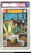 Bronze Age (1970-1979):Western, Jonah Hex #1 (DC, 1977) CGC VF 8.0 White pages. Jose Garcia-Lopez cover and art. Overstreet 2003 VF 8.0 value = $68. ...