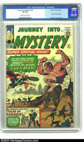 Silver Age (1956-1969):Superhero, Journey into Mystery #97 (Marvel, 1963) CGC VF 8.0 Off-white to white pages. Thor. Origin and first appearance of Lava Man. ...