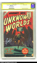 Silver Age (1956-1969):Horror, Journey into Unknown Worlds #47 (Atlas, 1956) CGC FR/GD 1.5 Creamto off-white pages. Signature Series. Lee's signature in ...