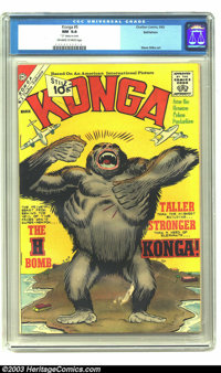 Konga #5 Bethlehem pedigree (Charlton, 1962) CGC NM 9.4 Off-white to white pages. On this cover, Steve Ditko renders an...