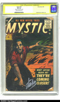 Silver Age (1956-1969):Horror, Mystic #49 (Atlas, 1956) CGC FR 1.0 Cream to off-white pages.Signature Series. Frightening cover by Bill Everett, with Lee...
