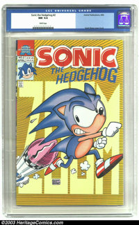 Sonic the Hedgehog #2 (Archie, 1993) CGC NM 9.4 White pages. Scott Shaw cover and art. Overstreet 2003 NM 9.4 value = $2...