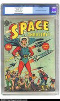 "Golden Age (1938-1955):Science Fiction, Space Thrillers nn (Avon, 1954) CGC VG/FN Cream to off-white pages.Overstreet says ""Scarce"", Robotmen of the Lost Planet; c..."