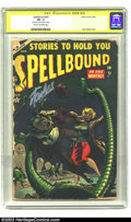 Golden Age (1938-1955):Horror, Spellbound #20 (Atlas, 1954) CGC PR 0.5 Cream to off-white pages.Signature Series. Tentacles from a subterranean monster s...