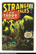Silver Age (1956-1969):Horror, Strange Tales #75 (Marvel, 1960) Condition: VG. Jack Kirby andSteve Ditko artwork. Iron Man prototype. Overstreet 2003 VG 4...