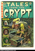Golden Age (1938-1955):Horror, Tales From the Crypt #29 (EC, 1952) Condition: VG. Jack Kamenartwork. A hapless soul meets a grisly fate on this cover. Ove...