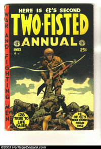 Two-Fisted Tales Annual #2 (EC, 1953) Condition: VG-. This 128 page square bound giant contains four random rebound rema...