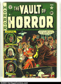 Golden Age (1938-1955):Horror, Vault of Horror #20 (EC, 1951) Condition: VG+. Graham Ingelsartwork. A vampire receives a stake through the heart on this c...