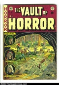Golden Age (1938-1955):Horror, Vault of Horror #27 (EC, 1952) Condition: VG+. Graham Ingelsartwork. A monster reminiscent of the Blob terrorizes a group o...