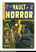 Golden Age (1938-1955):Horror, Vault of Horror #32 (EC, 1953) Condition: VG. Johnny Craig andGraham Ingels artwork. This cover was actually deemed too off...