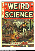 Golden Age (1938-1955):Science Fiction, Weird Science #13 (EC, 1952) Condition: GD/VG. Wally Wood cover. AlFeldstein, Joe Orlando and Wally Wood art. Overstreet 20...