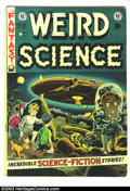 Golden Age (1938-1955):Science Fiction, Weird Science #16 (EC, 1952) Condition: VG-. Flying Saucer cover byWally Wood. Wood, Al Williamson, Joe Orlando, and Jack K...