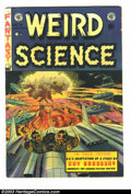 Golden Age (1938-1955):Horror, Weird Science #18 (EC, 1953) Condition: VG/FN. Bill Gaines dollappears in story. Fantastic flying saucer cover by Wally Woo...