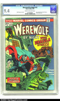 Bronze Age (1970-1979):Horror, Werewolf by Night #15 (Marvel, 1974) CGC NM 9.4 Cream to off-whitepages. New origin of Werewolf. Dracula cover and story. O...