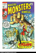 Silver Age (1956-1969):Horror, Where Monsters Dwell Group (Marvel, 1970-75) Condition: Average VG/FN. This lot contains issues #1-8, and 11-38. Overstreet ... (Total: 36 Comic Books Item)