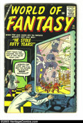 Silver Age (1956-1969):Horror, World Of Fantasy #15 (Atlas, 1958) Condition: VG. Jack Kirby cover.Overstreet 2003 VG 4.0 value = $36. From the ...