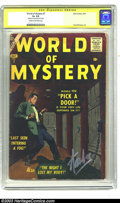 """Silver Age (1956-1969):Horror, World of Mystery #7 (Atlas, 1957) CGC GD+ 2.5 Cream to off-white pages. Signature Series. Paul Reinman-drawn cover asks, """"Wo..."""