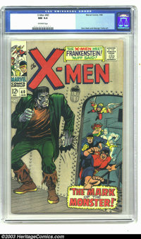 X-Men #40 (Marvel, 1968) CGC NM 9.4 Off-white pages. Don Heck and George Tuska Art. Marvel's merry mutants meet Frankens...