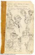 """Original Comic Art:Sketches, Robert Crumb - Original Sketch """"What is Real?"""" (1961). Amusing two-sided sketchbook page dates to very early in young Crumb'..."""